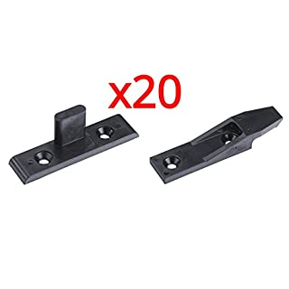 Keku Drop On/Hook On Push in Plinth Fasteners Fittings Press Fit Panel Clips x20