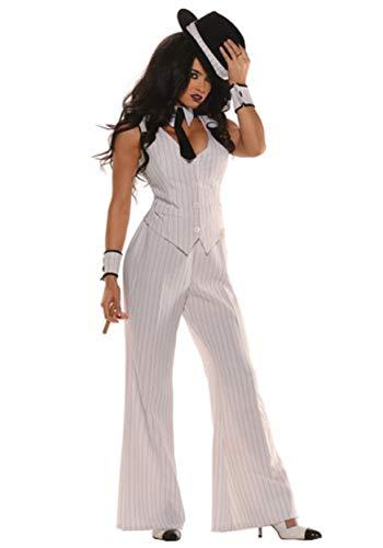 Mob Boss-Kostüm Damen Gr. S (Mob Boss Kostüm)