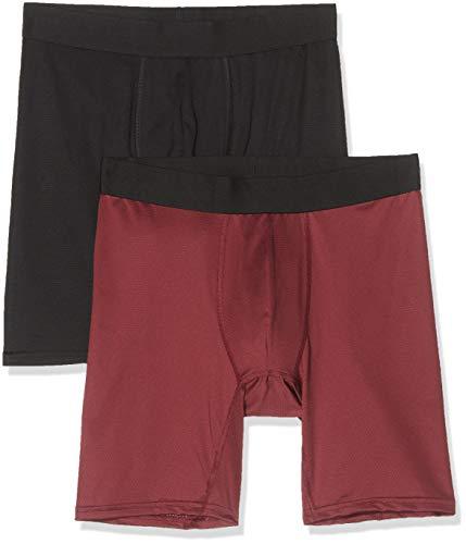 find. Belk063m2 calzoncillos hombre, Multicolor (Black/Red(Merlot)), 52 (Talla del fabricante: Large), Pack de 2