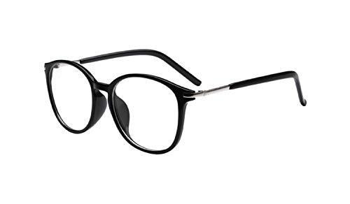 Alittle Metall Frame Retro Glasrahmen-Ebenenspiegel Dekobrille Klassisches Rund Rahmen Glasses Klare Linse Brille