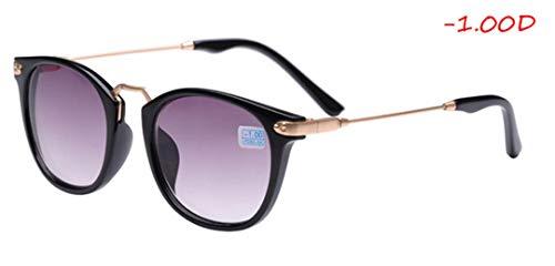 DAIYSNAFDN Mode Myopie Sonnenbrillen für Frauen Männer Design Lesen verschreibungspflichtige Sonnenbrillen Myopia 100