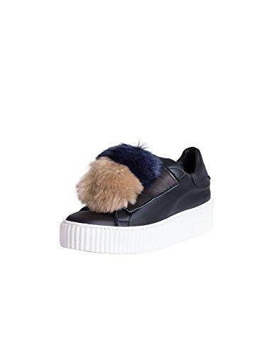 Sneakers Donna con Pon Pon Perri Nero