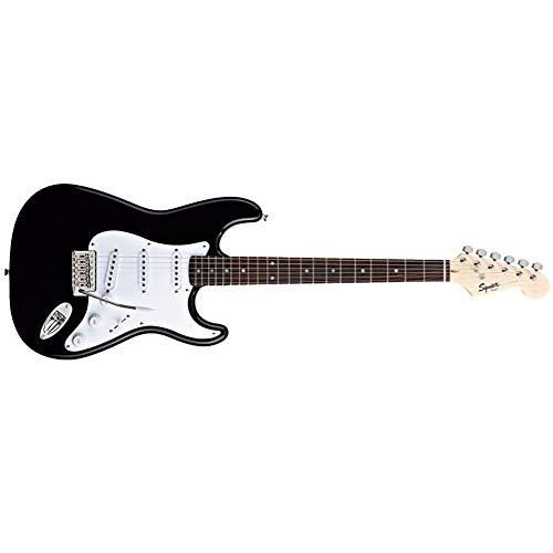 Miiliedy Bullet Strat E-Gitarren-Set Klassischer Minimalismus Anfänger Selbstlern-Übungsshow Professionelle E-Gitarre Geeignet für Rock Roll Blues Heavy Metal Musikstile ( Color : Black )