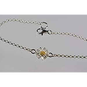 Gänseblümchen an 925er Silberarmband – zeitlos schön – das perfekte Geschenk