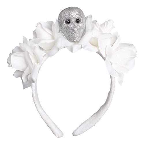 FELIZHOUSE Halloween-Stirnband Kostüm für Frauen Mädchen Cosplay Party Favors Dekoration Supplies - Neuheit Fascinator Kopfbedeckung Haarzubehör - Blumenkrone Fledermaus Totenkopf Spinnennetz Hexenhut