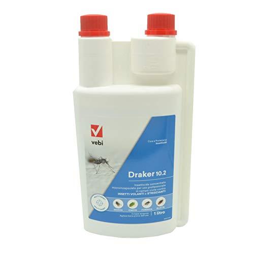 Insetticida draker 102 - lt 1 zanzara tigre insetti molesti cipermetrina tetrametrina piperonilbutossido 10 g