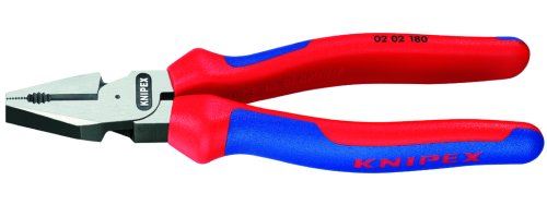Knipex 0202180 7-1/4-Inch High Leverage Combination Pliers - Comfort Grip by KNIPEX Tools