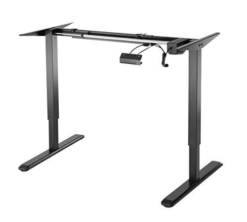 HOKO Schreibtischfüße elektronisch höhenverstellbar Ergo-Work-Table. Für ergonomisches Arbeiten auch im Stehen! Mit Speicher-Steuerung und Erinnerungsfunktion. Farbe: Schwarz (Drucker Tischfuß)