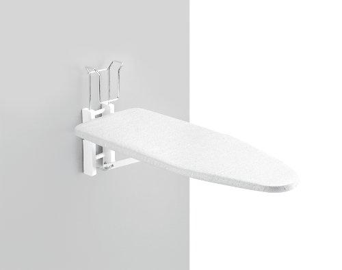 Aris Muralix - Tabla De Planchar De Pared Plegable - En Madera De Haya Maciza - Fabricado En Italia - Color Blanco
