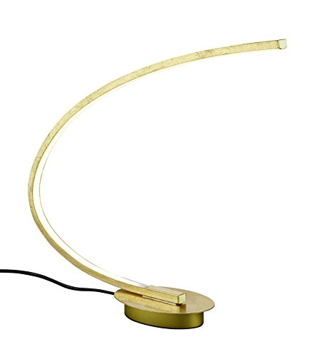 Reality Leuchten Lampe de table foliert, intégré, 6,5W, doré, 44x 11x 43cm