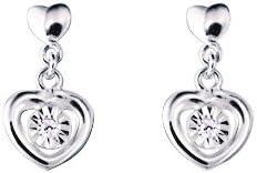 Bijoux pour tous - Pendientes de oro blanco con diamante (0)