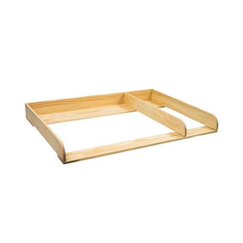 PuckDaddy XXL-H+ madera natural + separación! Cambiador superior 108 cm con bordes...
