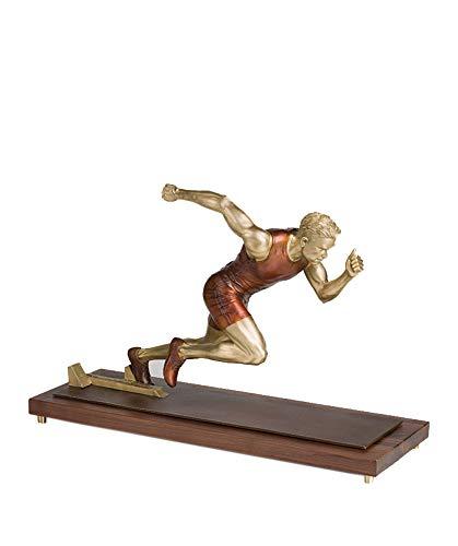 SDBRKYH Athlet Statue, Sport Skulptur Modell Leichtathletik Athlet Skulptur Desktop Dekoration Kupfer Charakter Kunstwerk