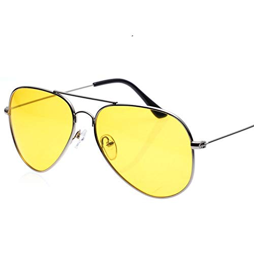 Nachtfahrbrillen der Männer, gelbe Linse für Männer, die Frauen fahren, radfahren, Reitenfischen, Blendschutz polarisierte Sonnenbrillen-Schutzbrillen Eyewear, entspiegelte HD-Nachtsichtfahrbrillen