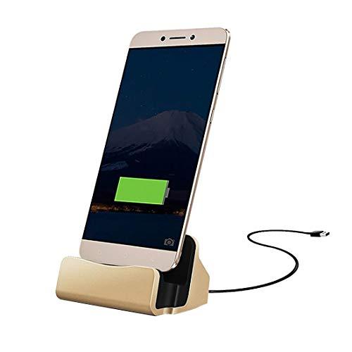 Cubierta impermeable Cargador USB / C / Tipo C 3.1 Datos sincronizados / Base de carga, Para Galaxy S8 y S8 + / LG G6 / Huawei P10 y P10 Plus / Xiaomi Mi 6 y Max 2 y otros teléfonos inteligentes (Oro)
