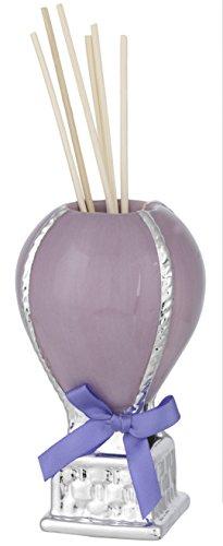 Preisvergleich Produktbild Lufterfrischer die Ballonfahrt – Keramik lila – versilbert H cm 12 mit Behälter – Bagutta