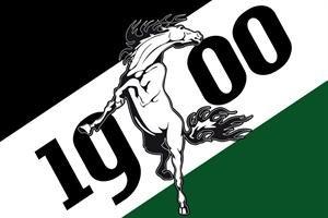 Gladbach 1900 mit Pferd Fussball Fahne Flagge Grösse 1,50x0,90m - FRIP -Versand®