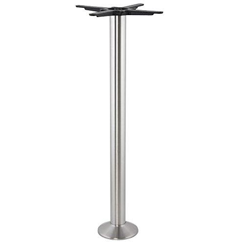 Alterego - Pied de table 'PIKET' 110 cm en métal brossé à base ronde
