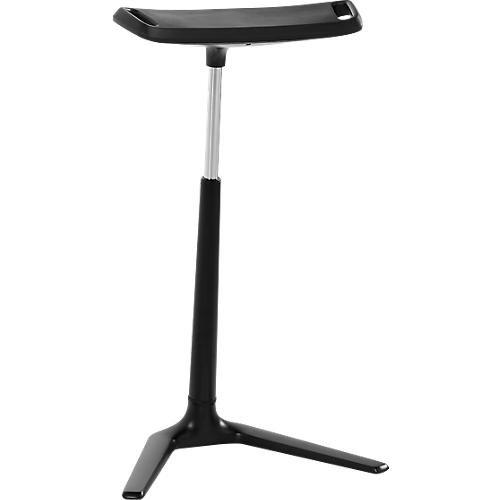 BIMOS Stehhilfe Fin Stehhocker - höhenverstellbar, extrabreite Sitzfläche, Schwarz