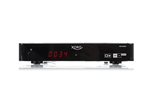 Xoro HRS 8820 IP Digitaler Satelliten-Receiver (HDTV, DVB-S2, CI/CI+ Schacht, Hbb-TV, HD+ RePlay, LAN Netzwerkanschluss, HDMI, SCART, PVR-Ready, USB 2.0, inkl. HD+ Karte für 6 Monate) schwarz
