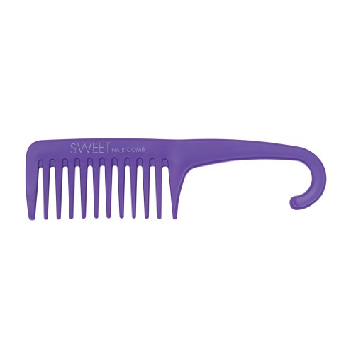 Peigne démêlant Idéal pour coiffer cheveux crépus, épais, ou frisés Type peigne afro - Violet