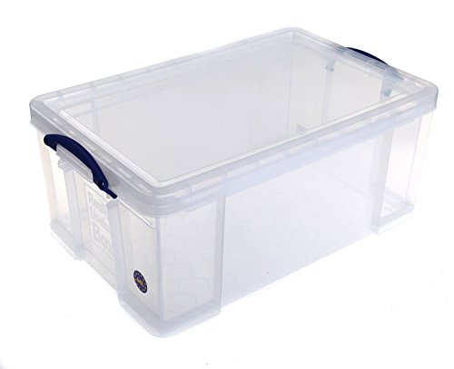 Cheap Really Useful Box Plastic 64 Litre Storage, SUPER-DEAL, Pack of 4 Boxes on Line
