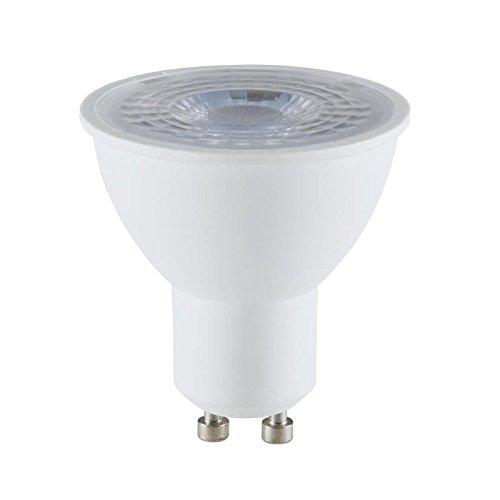 MÜLLER-LICHT 400253 A+, HD95-LED Reflektorlampe, Plastik, 6,5 W, GU10, weiß, 5,5 x 5 x 5 cm