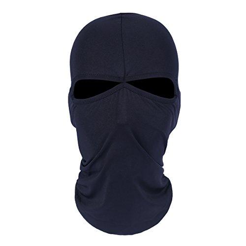 ecyc Outdoor Motorrad Radfahren Ski Neck Schutz Atmungsaktives Lycra Balaclava Full Face Maske, Herren damen, A10:Royal blue (Royal Herren Maske)