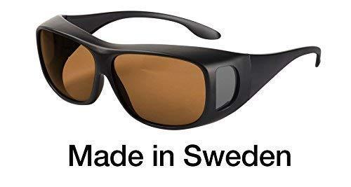 Blaulichtfilter - Überbrille - Fit-over-Brille, Comfort Filter C500 mit 60 % Grautönung, UV-Schutz, Blendschutz, kontraststeigernde Unisex-Lichtschutzbrille IV PROSHIELD -