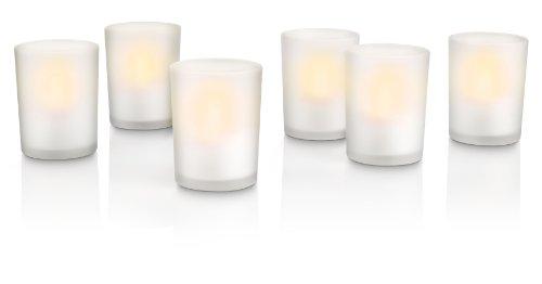 Preisvergleich Produktbild PHILIPS myLightAccent, Tischleuchte TeaLightsWhite 6 set mit 6W, inklusive Leuchtmittel, 6-flammig 6912660PH