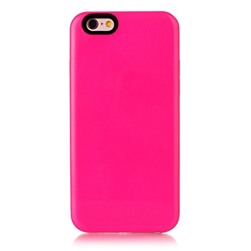 iPhone Case Cover IPhone 6S Fall-Abdeckung, feste Farben-harte rückseitige schützende Plastikabdeckung für Apple IPhone 6S ( Color : Blue , Size : IPhone 6S ) Rose Gold