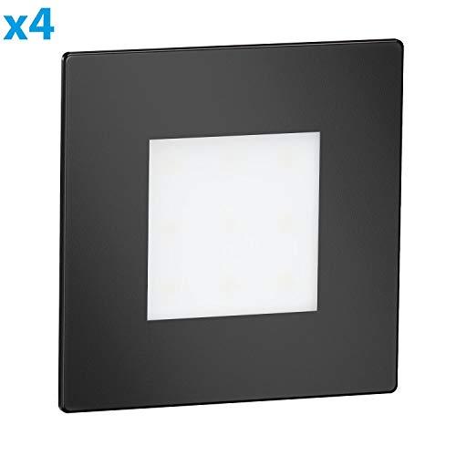 ledscom.de LED lámpara de Escalera FEX lámpara empotrable en la Pared, Negro,...