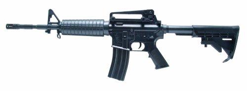 Colt Softair-Gewehr M4 A1 schwarz Federdruck AEG ABS Hop Up Sturmgewehr Kinder-Gewehr unter 0,5 Joule ab 14 Jahre (Softair Elektrisches Sturmgewehr)