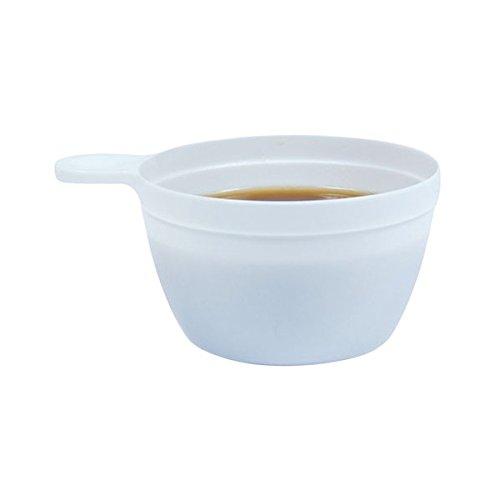 25 Tasses à café plastique jetable blanche