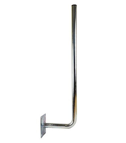 PremiumX 30cm Wandhalter 120cm Mast Stahl verzinkt SAT Antenne Wandhalterung Wand Montage Halter Wandabstand 30 cm Ø 38mm -