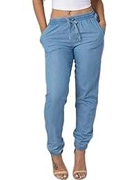 Pantalon Jeans ITISME Casual Automne et Femmes Jeanshosen Taille Décontracté Haute Taille Élastique Bleu Denim Hiver kn0OPNX8wZ