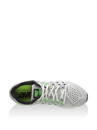 Nike Air Zoom Structure 19, Chaussures de Running Homme, 9 EU Gris / noir / vert / citron vert (voile / noir - kaki cargo - vert électrique)