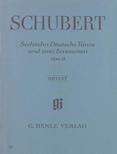Sechzehn Deutsche Tanze und znei Ecossaisen opus 33 par Schubert Franz