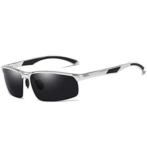 DYJHSD Neue Ankunft Aluminium Marke männer Sonnenbrillen HD Polarisierte Linse Vintage Eyewear Zubehör Sonnenbrille Oculos Für Männer männlich Silber