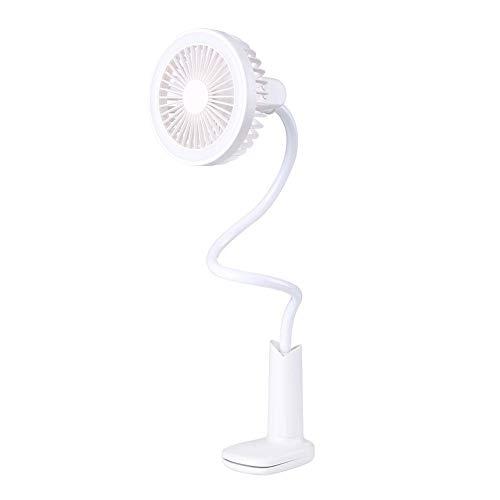 Mini ventilador de escritorio Lámpara de mesa Ventilador portátil Batería recargable Ducha...