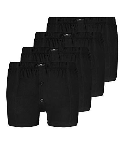 4 GÖTZBURG Jersey Basic Boxershorts Boxer Herren, Grösse:XXL - 8 - 56;Farbe:schwarz