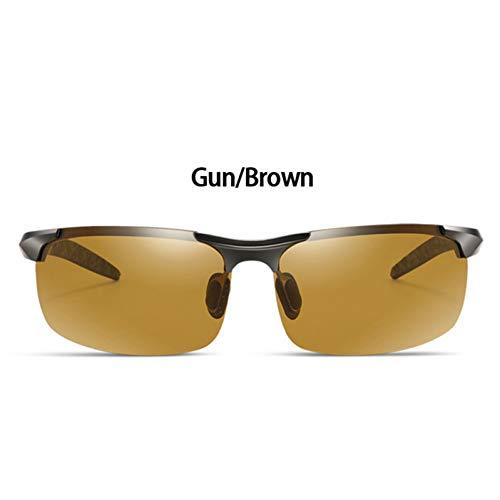 CCGSDJ Photochrome Sonnenbrillen Aus Aluminium Magnesium Chameleon Polarized Sonnenbrillen Damen Herren Den Ganzen Tag Farbe Ändern Für Lichtschatten Schnee