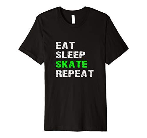 Eat Sleep Skate Repeat Roller Ice Skater Skateboard T Shirt
