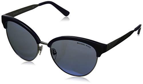 Michael kors amalfi 330855 56 occhiali da sole, argento (navy/silver/navymirror), donna