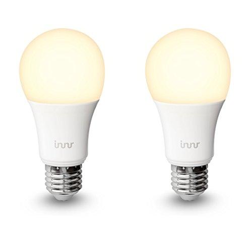Innr E27 Duo pack des 2 ampoules LED connectée Blanc (pilotable via smartphone, iOS / Android, compatible avec Hue*) RB 165