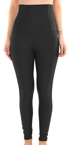 leggings formend schlankheit - lycra streben für un bauch flach - wirkung komprimierend des bauch oberschenkel und beine - einengung größe - Schwarz, frau, L / XL