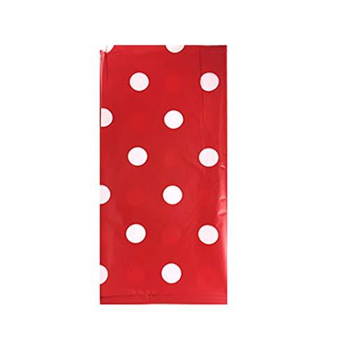 Tischdecke Einwegtischdecke rechteckig Schutz Polka Dot Wasserdichte Tischdecke Küche Esstischdecke, rot, Free Size (Dot Tischdecke Polka Rot)