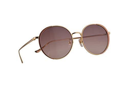 Gucci GG0401SK Sonnenbrille Gold Pink Mit Mehrfarbigen Verspiegelten Gläsern 56mm 004 GG0401/SK 0401/SK GG 0401SK