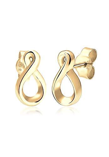 Elli Premium Damen-Ohrstecker Infinity 585 Gelbgold - 0309892716