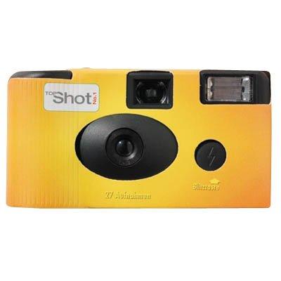 TopShot Flash Einwegkamera orange 1 Stück